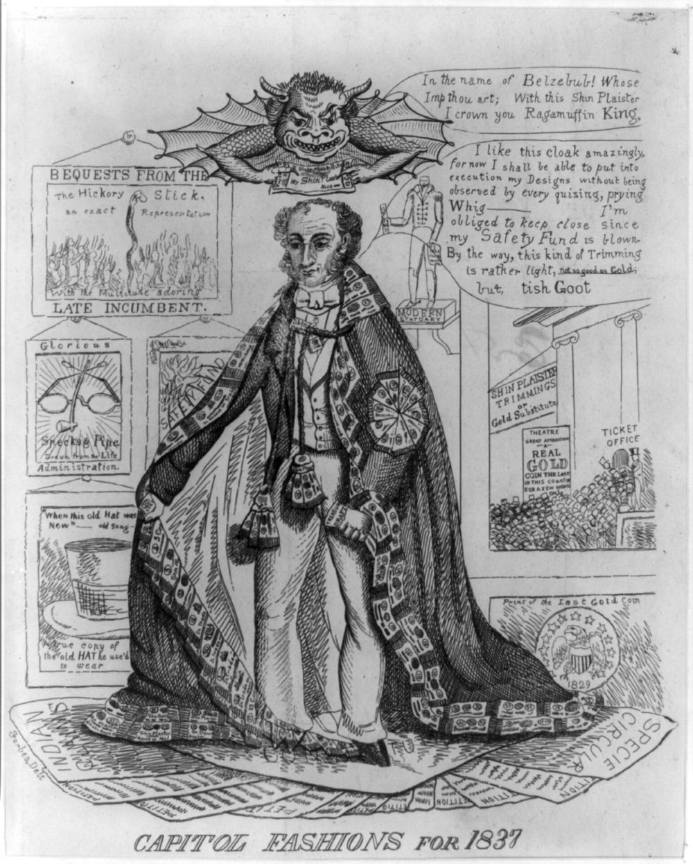 "Winston, F. J. ""Capitol Fashions for 1837,"" 1837, via Library of Congress"
