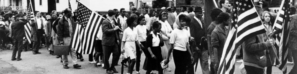 Civil rights march from Selma to Montgomery, Alabama. 1965. Via Library of Congress.
