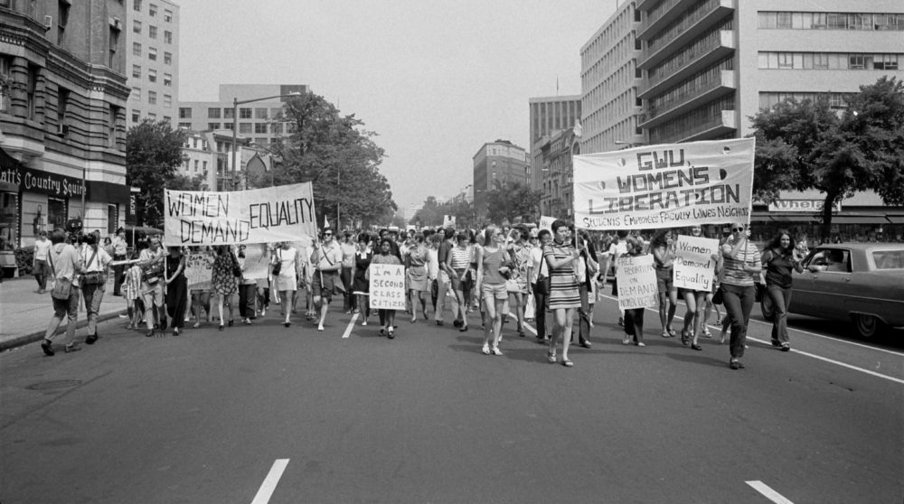 Warren K. Leff;er, Women's Liberation March from Farrugut Square to Lafayette Park in Washington, D.C. 1970. Via Library of Congress.