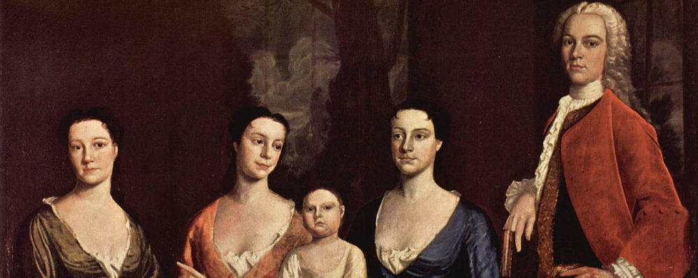 Robert Feke, Familienporträt des Isaac Royall, 1741, via Wikimedia.