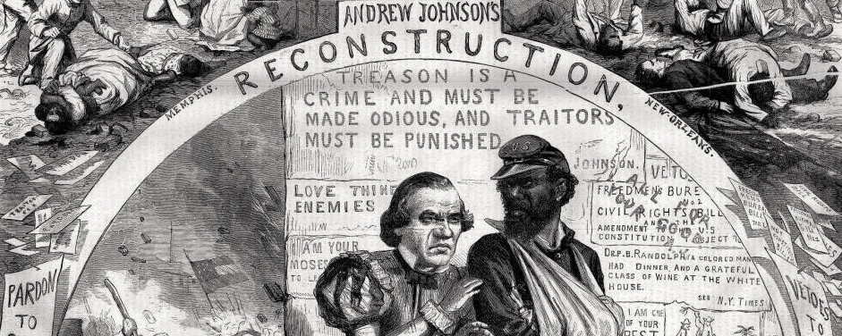 "Thomas Nast, ""Reconstruction and How It Works,"" Harper's Weekly, 1866, via HarpWeek."