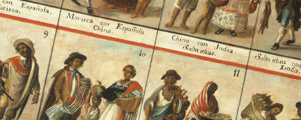 Excerpt from the casta paintings describing the many different races of Spanish America.