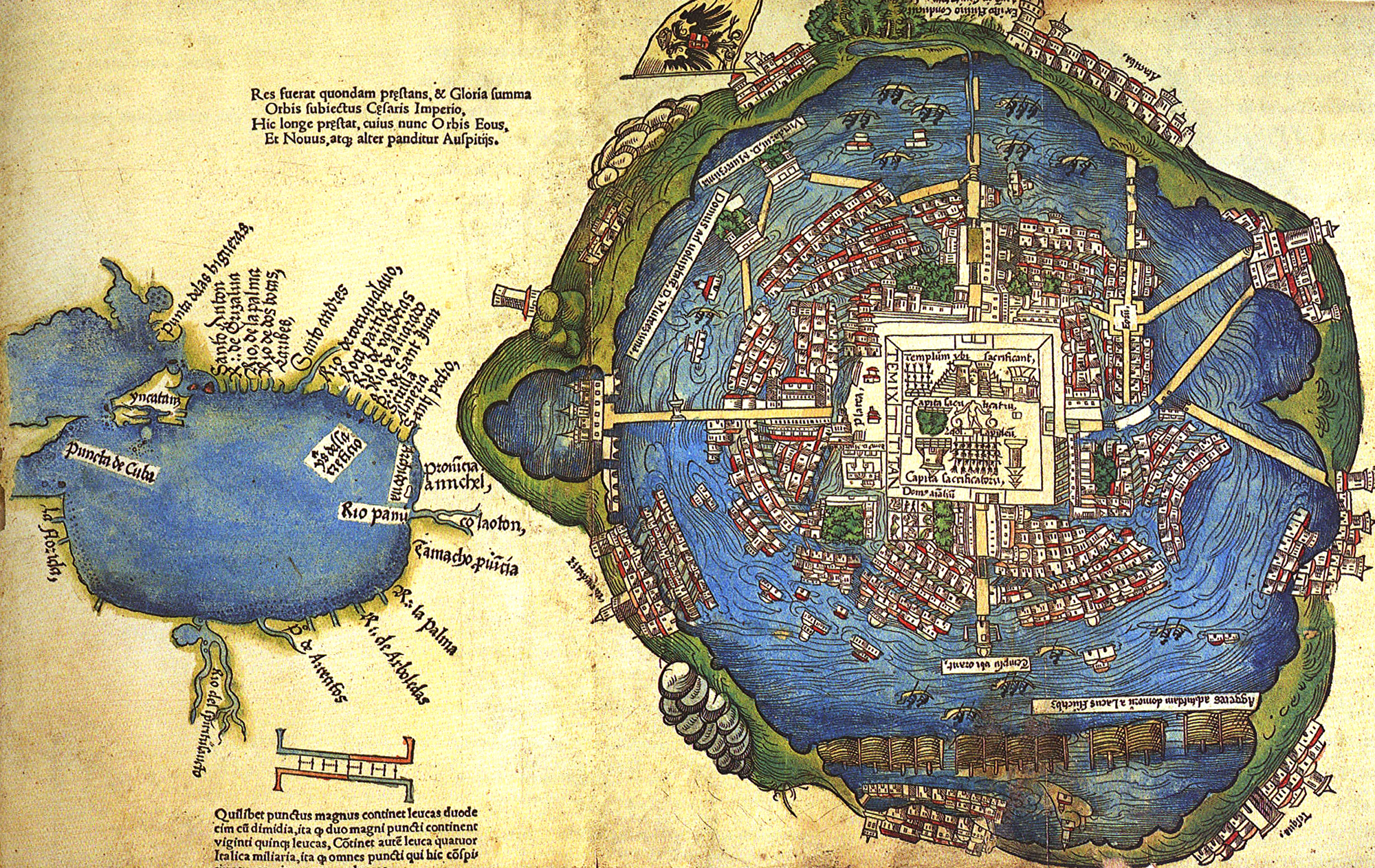 this sixteenth century map of tenochlan shows the aesthetic beauty and advanced infrastructure of this