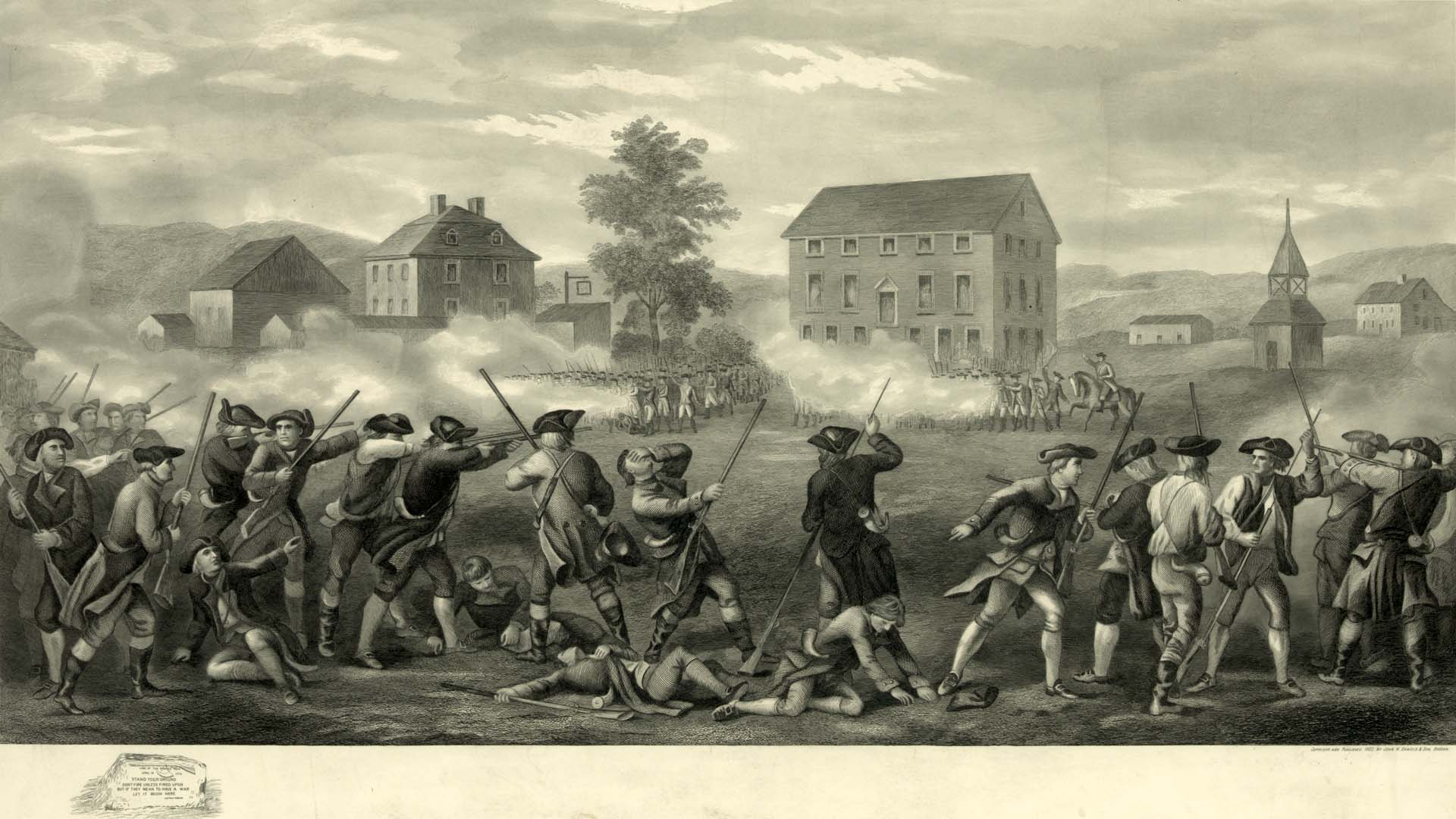 the american revolution the american yawp the battle of lexington published by john h daniels son