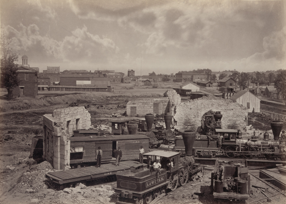 "George N. Barnard, ""City of Atlanta, Ga., no. 1,"" c. 1866. Library of Congress, http://www.loc.gov/pictures/item/2008679857/."