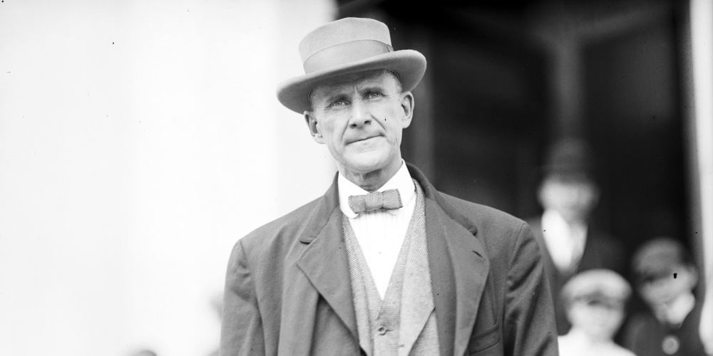 American socialist leader Eugene Victor Debs, 1912. Library of Congress, LC-DIG-hec-01584