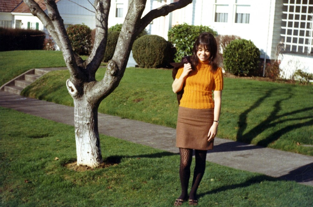 Fashion can tell us a lot about a generation's values and world view. Miniskirts – one of the most radical and popular fashions of the 1960s – demonstrated the new sexual openness of young women during this era of free love. Photograph of young woman in Eugene, Oregon, 1966. Wikimedia, http://commons.wikimedia.org/wiki/File:1960s_fashions_(1709303069).jpg.