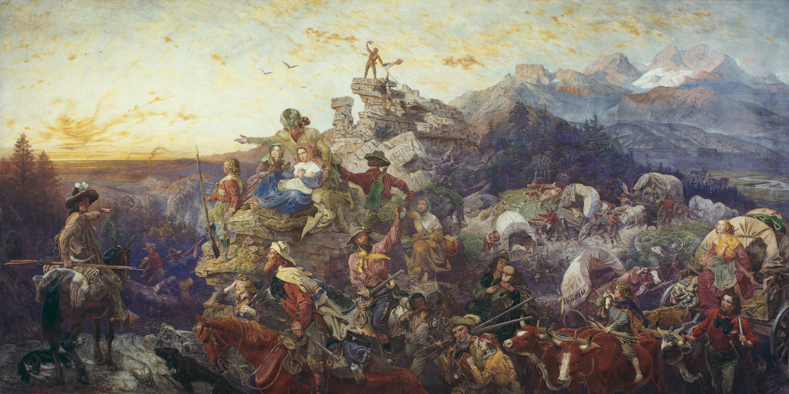 Emanuel Gottlieb Leutze, Westward the Course of Empire Takes Its Way, 1862. Mural, United States Capitol
