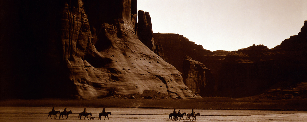Edward S. Curtis, Navajo Riders in Canyon de Chelly, c1904, via Library of Congress