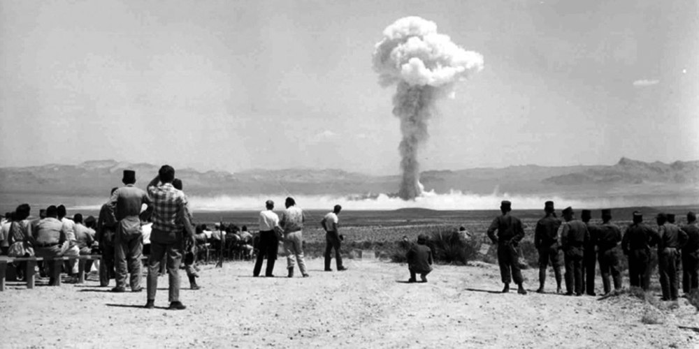 "Test of the tactical nuclear weapon ""Small Boy"" at the Nevada Test Site, July 14, 1962."