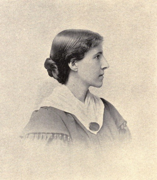 "Taken a few years after the publication of ""The Yellow Wallpaper,"" this portrait photograph shows activist Charlotte Perkins Gilman's feminine poise and respectability even as she sought massive change for women's place in society. An outspoken supporter of women's rights, Gilman's works challenged the supposedly ""natural"" inferiority of women. Her short stories, novels, and poetry have been an inspiration to feminists for over a century. Photograph, 1895. Wikimedia, http://commons.wikimedia.org/wiki/File:Charlotte_Perkins_Gilman_3.jpg."