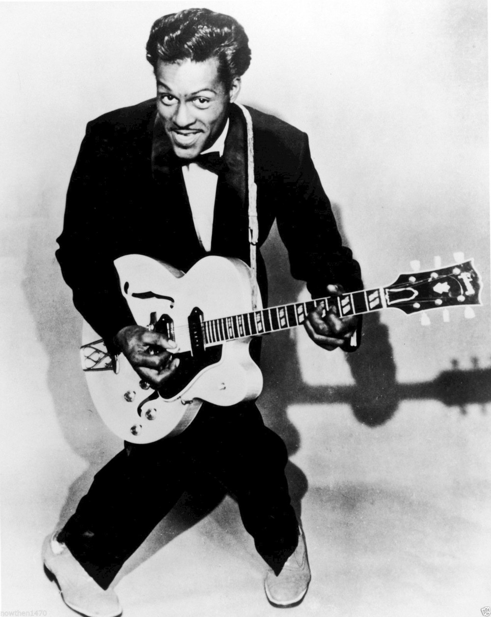 While an accepted part of culture in the twenty-first century, Rock and Roll music was seen by many as devilish, having a corruptive influence on the youth of America. Chuck Berry defined the rhythm and style that made Rock and Roll so distinctive and irresistible. Publicity photo, c, 1971. Wikimedia, http://commons.wikimedia.org/wiki/File:Chuck_Berry_1971.JPG.