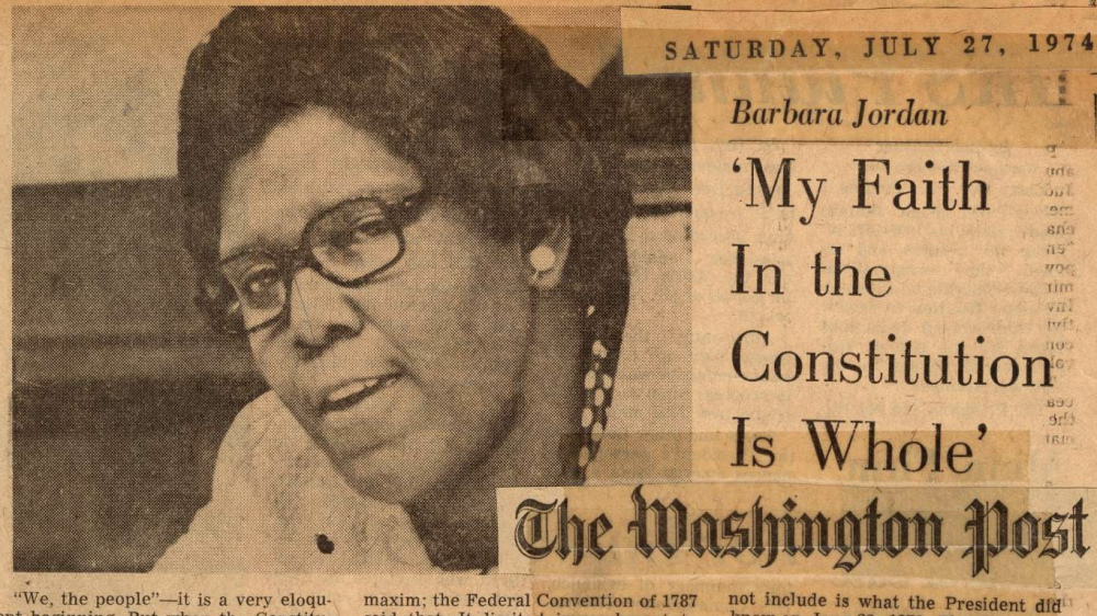 Barbara Jordan's  Scrapbook, July 1974