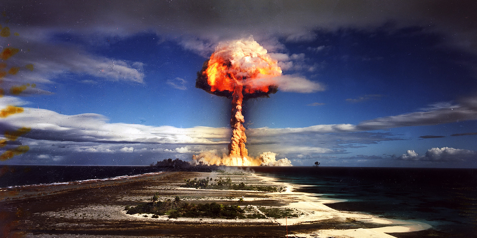 French government's test of the Licorne thermonuclear weapon, Mururoa atoll, French Polynesia, 1970, via Flickr userPierre J.