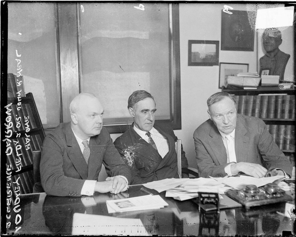 "The Scopes trial signified a pivotal moment when science and religion became diametrically opposed. The Scopes defense team, three of whom are seen in this photograph, argued a literal interpretation of the Bible that is still popular in many fundamentalist Christian circles today. ""Dudley Field Malone, Dr. John R. Neal, and Clarence Darrow in Chicago, Illinois."" The Clarence Darrow Digital Collection, http://darrow.law.umn.edu/photo.php?pid=874."