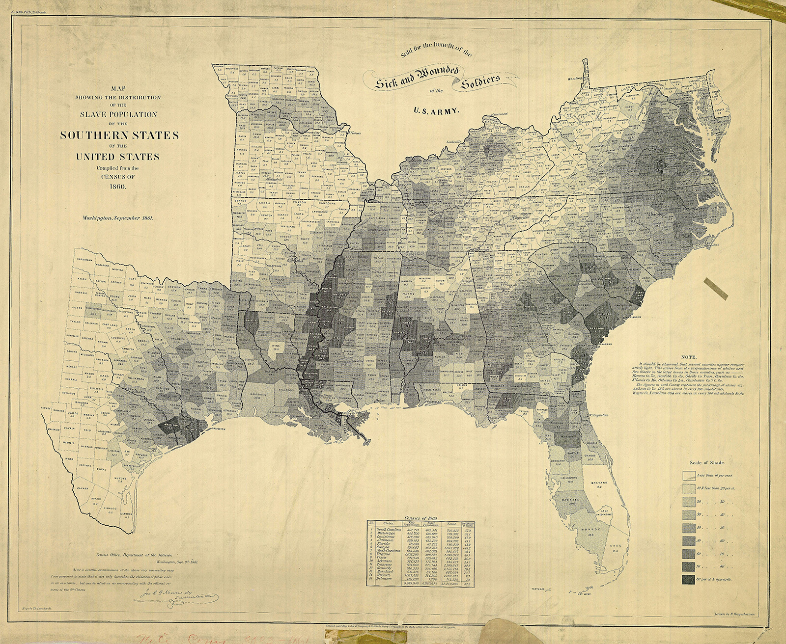 map of slave population