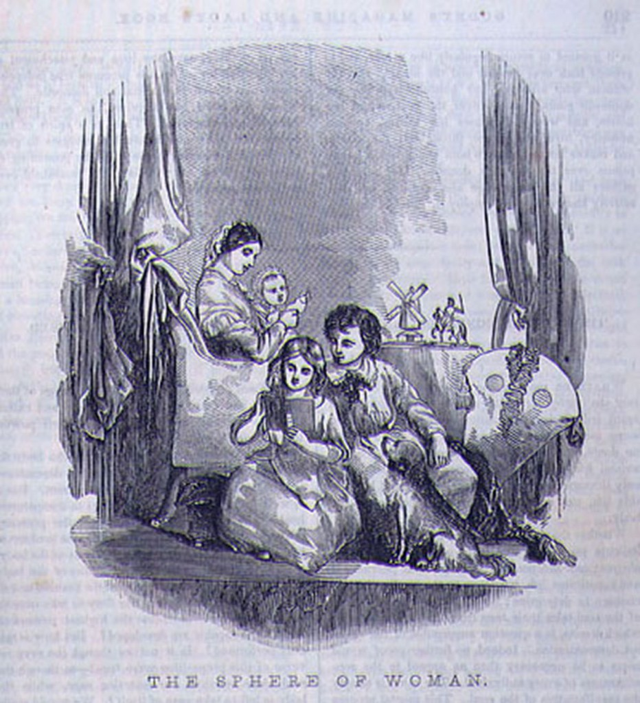 """The Sphere of Woman,"" Godey's Lady's Book vol. 40 (March 1850): p. 209, http://utc.iath.virginia.edu/sentimnt/gallgodyf.html."