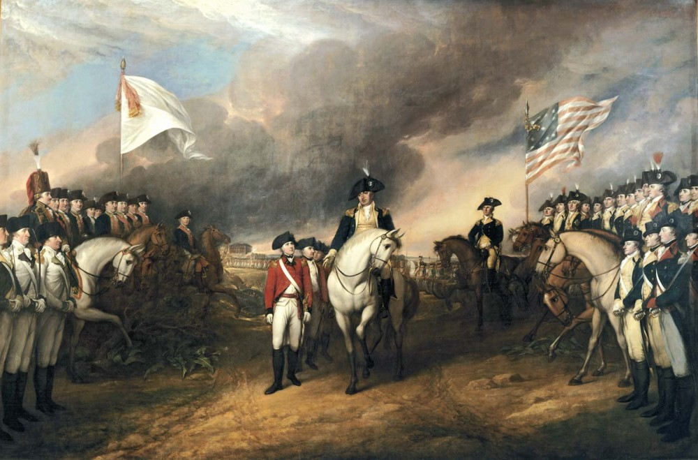Lord Cornwallis's surrender signalled the victory of the American revolutionaries over what they considered to be the despotic rule of Britain. This moment would live on in American memory as a pivotal one in the nation's origin story, prompting the United States government to commission artist John Trumbull to create this painting of the event in 1817. John Trumbull, Surrender of Lord Cornwallis, 1820. Wikimedia, http://commons.wikimedia.org/wiki/File:Surrender_of_Lord_Cornwallis.jpg.