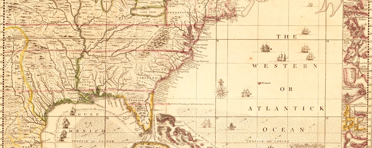 "Henry Popple, ""A map of the British Empire in America with the French and"
