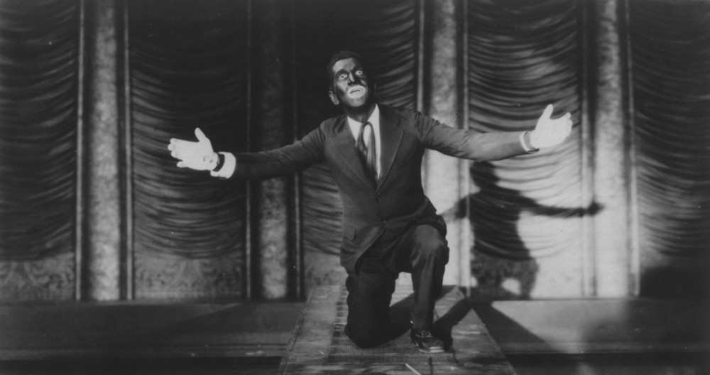 Al Jolson in The Jazz Singer, 1927.