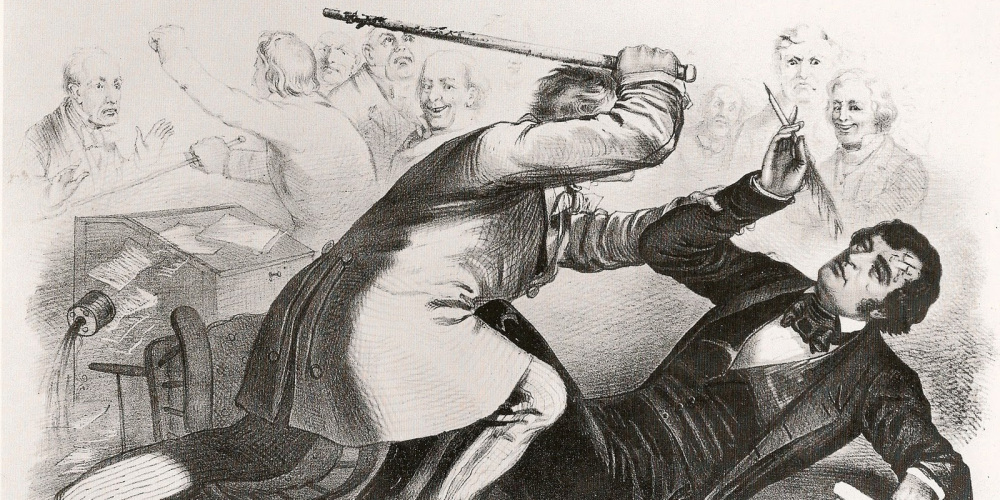 The Caning of Charles Sumner, 1856. Wikimedia, http://commons.wikimedia.org/wiki/File:Southern_Chivalry.jpg.