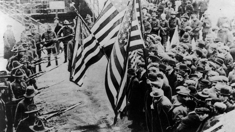 Lawrence Textile Strike, 1912. Library of Congress, LC-USZ62-23725.
