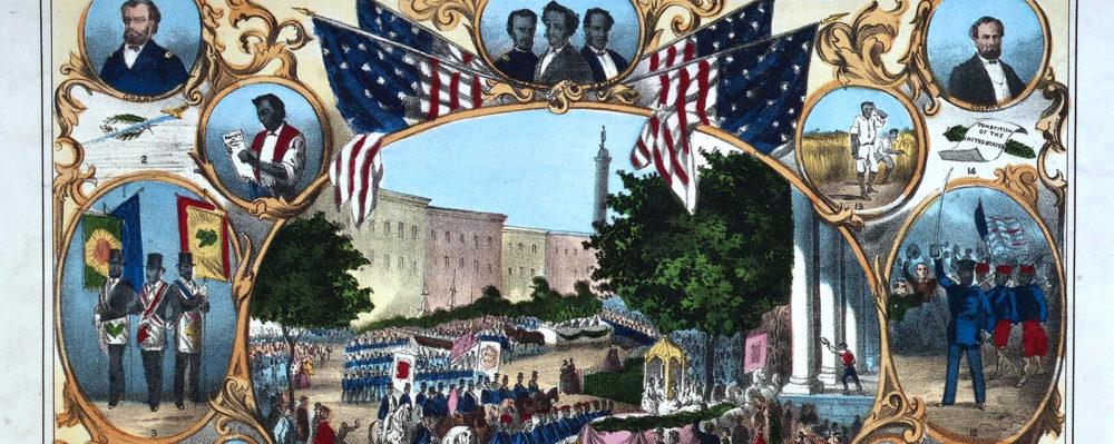 "Thomas Kelley, ""The Fifteenth Amendment,"" 1870, via Wikimedia."
