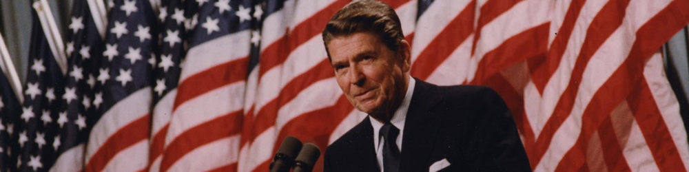 Ronald Reagan in 1982. Via National Archives (198527).