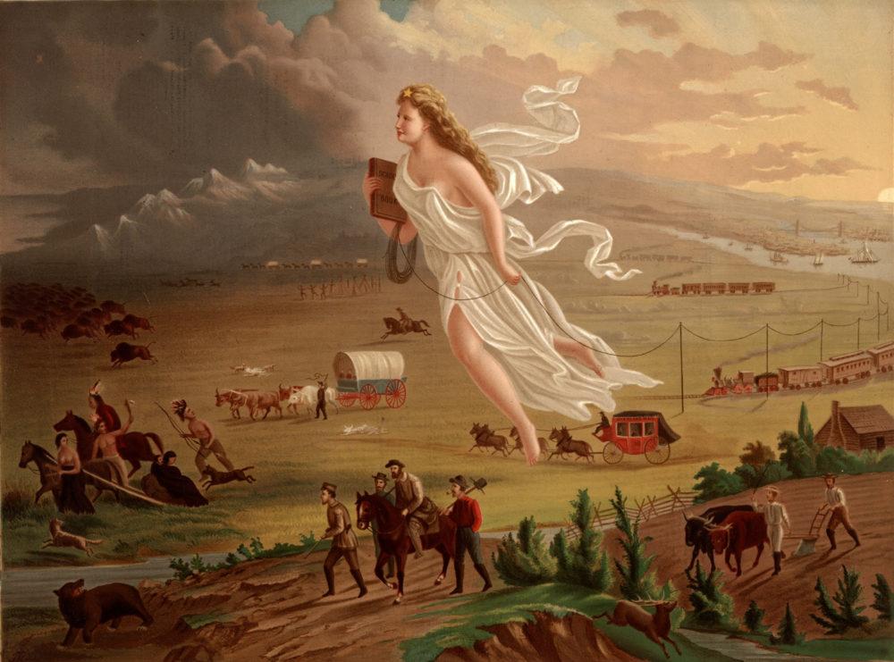 John Gast, American Progress, 1872. Wikimedia.