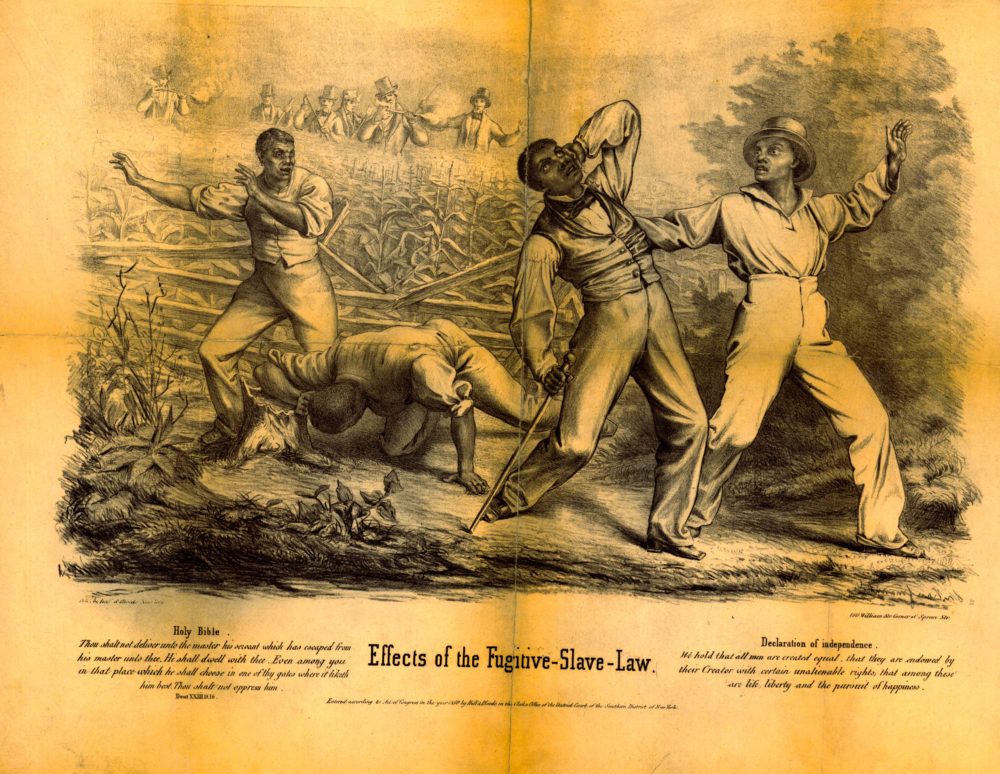 """Theodore Kaufman, """"Effect of the Fugitive Slave Law,"""" 1850, via Library of Congress."""
