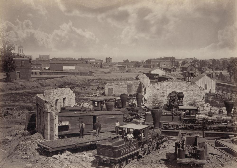 "George N. Barnard, ""City of Atlanta, Ga., no. 1,"" c. 1866. Library of Congress, http://www.loc.gov/pictures/item/2008679857/."