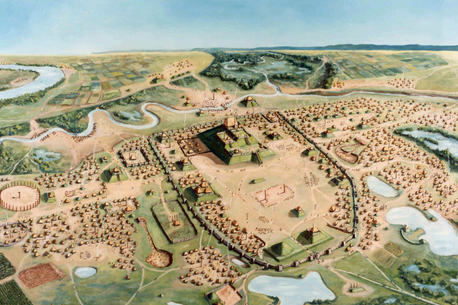 Cahokia, by Bill Iseminger. Cahokia Mounds State Historic Site