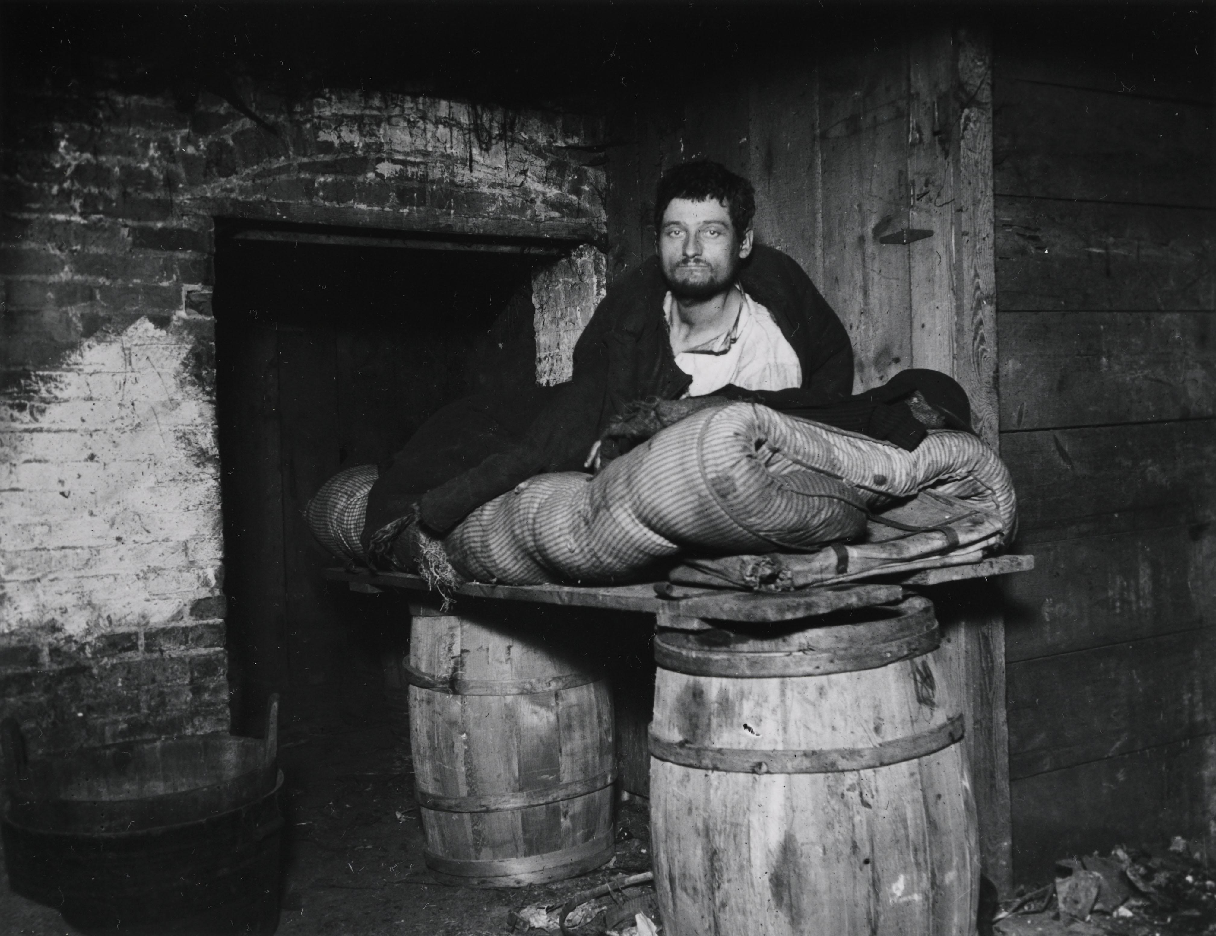 """One of four Pedlars Who Slept in the Celler of 11 Ludlow Street Rear."" Via Preus Museum"