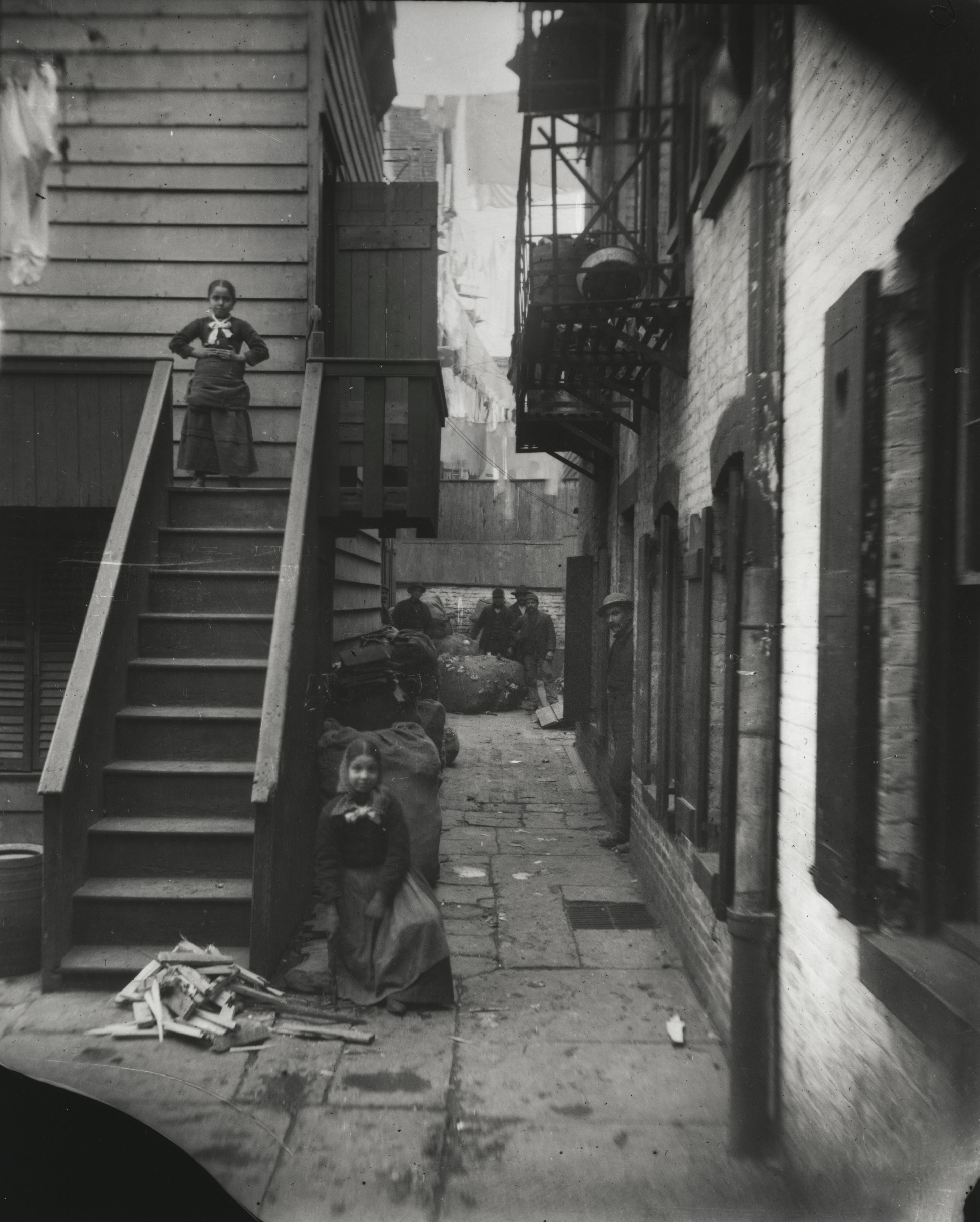 Baxter Street in Mulberry Bend. Via Preus Museum