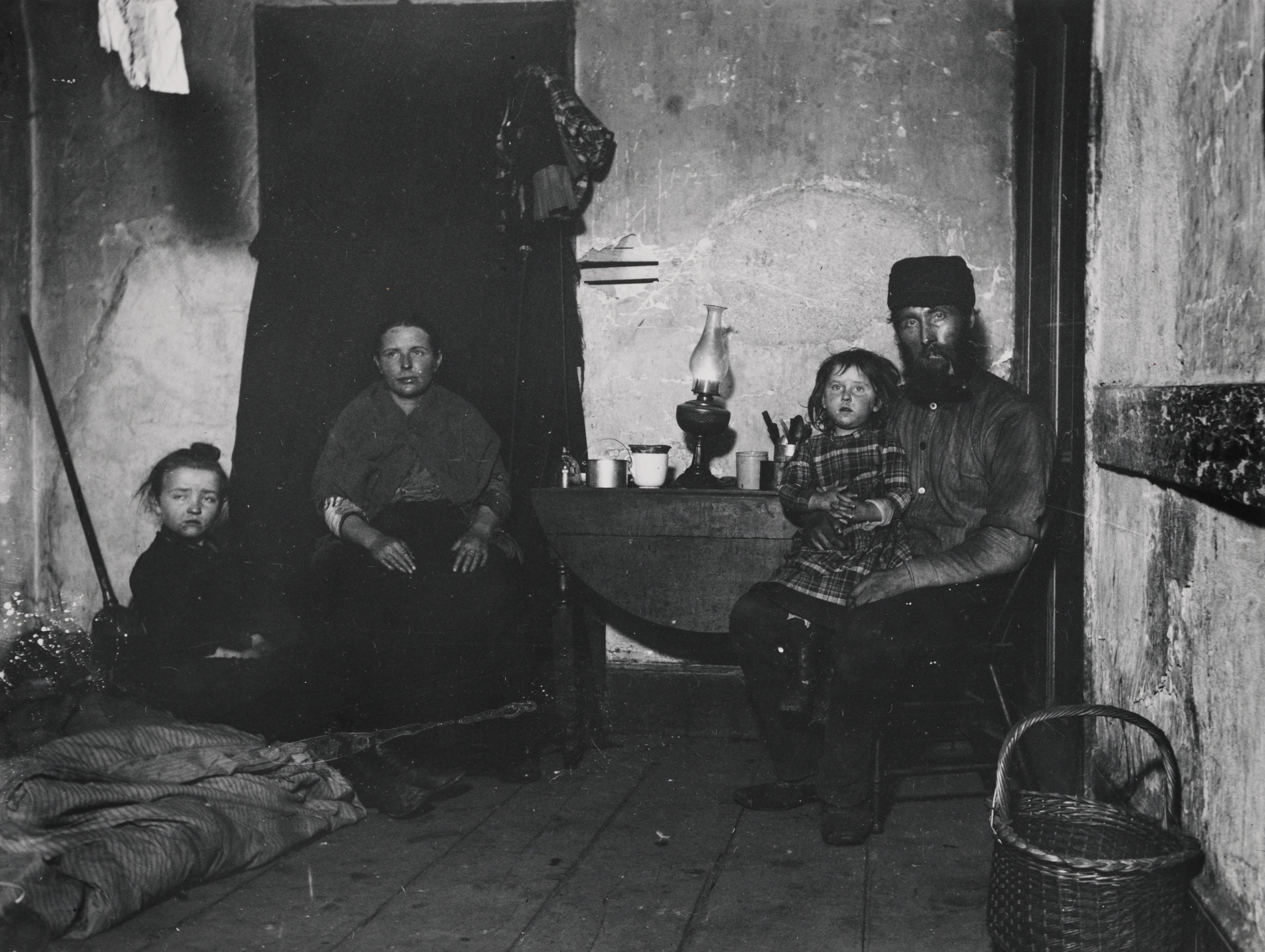 In Poverty Gap, an English Coal-Heaver`s Home. Via Preus Museum
