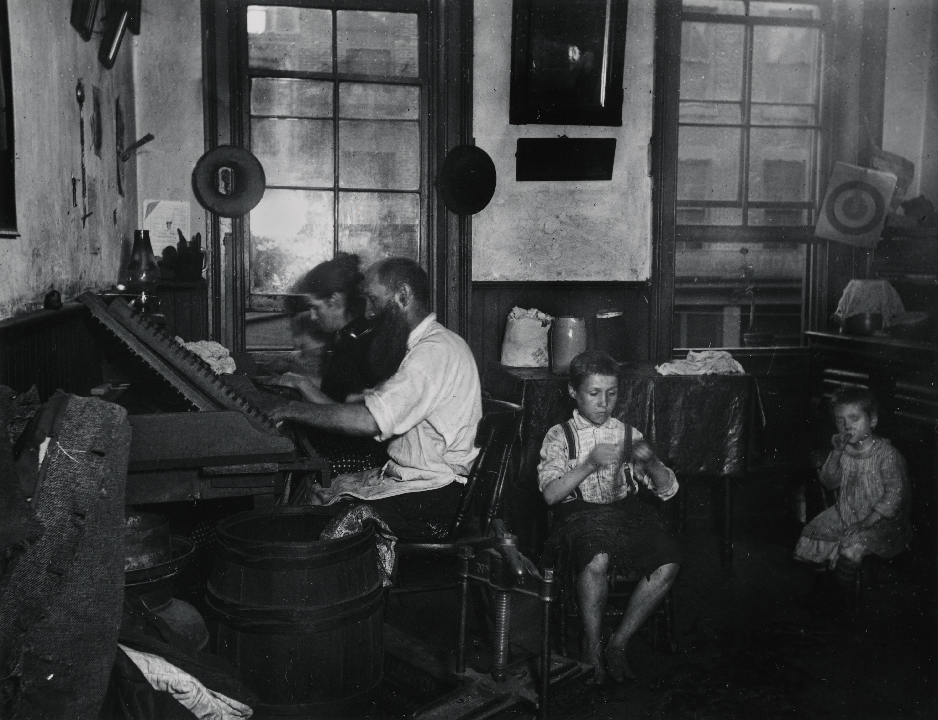 """""""Bohemian Cigarmakers at work in their Tenement."""" Via Preus Museum"""