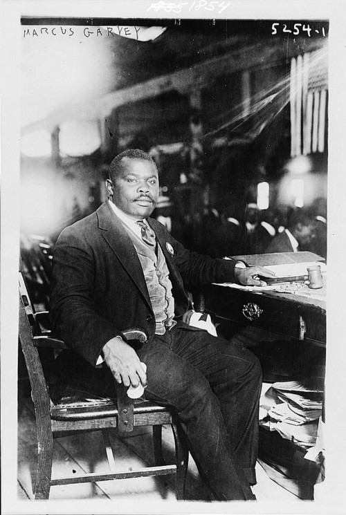 Marcus Garvey inspired black American activists disappointed with the lack of progress since emancipation to create a world-wide community to fight injustice. One of the many forms of social activism in the 1920s, Garveyism was seen by some as too radical to engender any real change. Yet Garveyism formed a substantial following, and was a major stimulus for later black nationalistic movements like the Black Panthers. Photograph of Marcus Garvey, August 5, 1924. Library of Congress, http://www.loc.gov/pictures/item/2003653533/.
