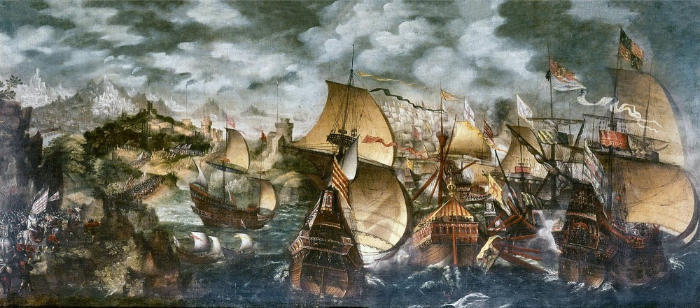 Nicholas Hilliard, The Battle of Gravelines, 1588, via National Geographic España