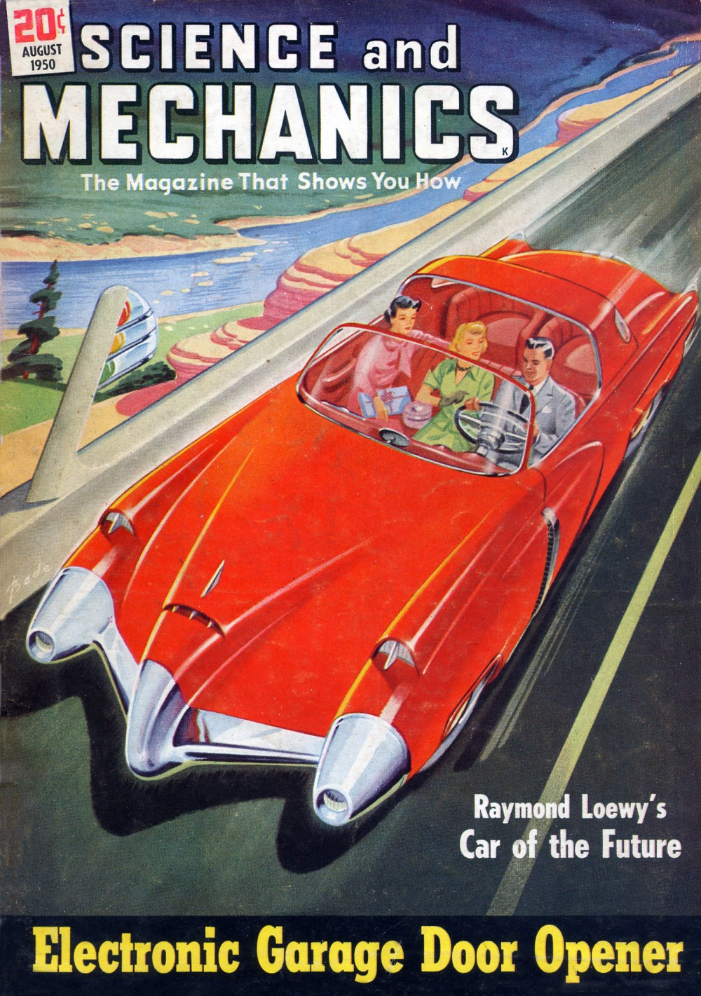 While the car had been around for decades by the 1950s, car culture really took off as a national fad during the decade. Arthur C. Base, August 1950 issue of Science and Mechanics. Wikimedia, http://commons.wikimedia.org/wiki/File:Car_of_the_Future_1950.jpg.