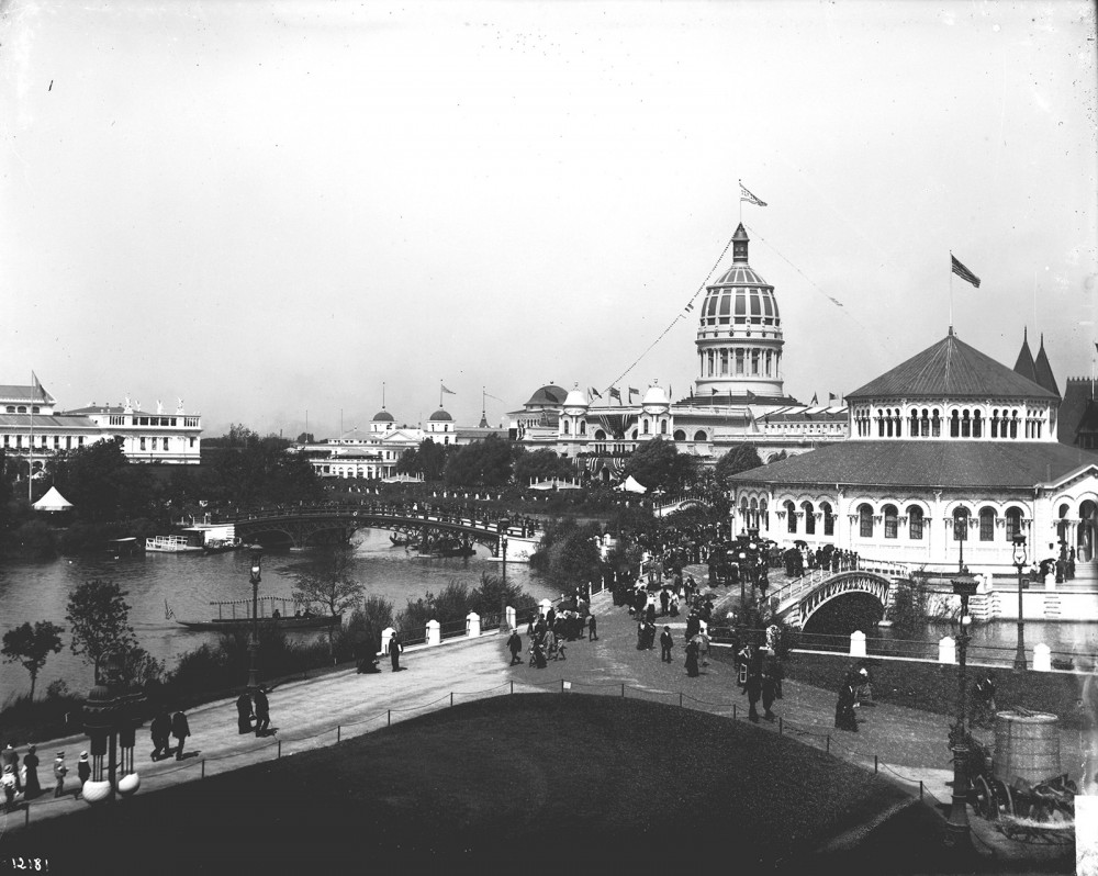 Designers of the 1893 Columbian Exposition in Chicago used a Neoclassical architectural style to build what was known as The White City. The integrated design of buildings, walkways, and landscapes was extremely influential in the burgeoning City Beautiful movement. The Fair itself was a huge success, bringing more than 27 million people to Chicago and helping to establish the ideology of American exceptionalism. Photograph of the Columbian Exposition in Chicago, 1893. Wikimedia, http://commons.wikimedia.org/wiki/File:Chicago_World%27s_Columbian_Exposition_1893.jpg.