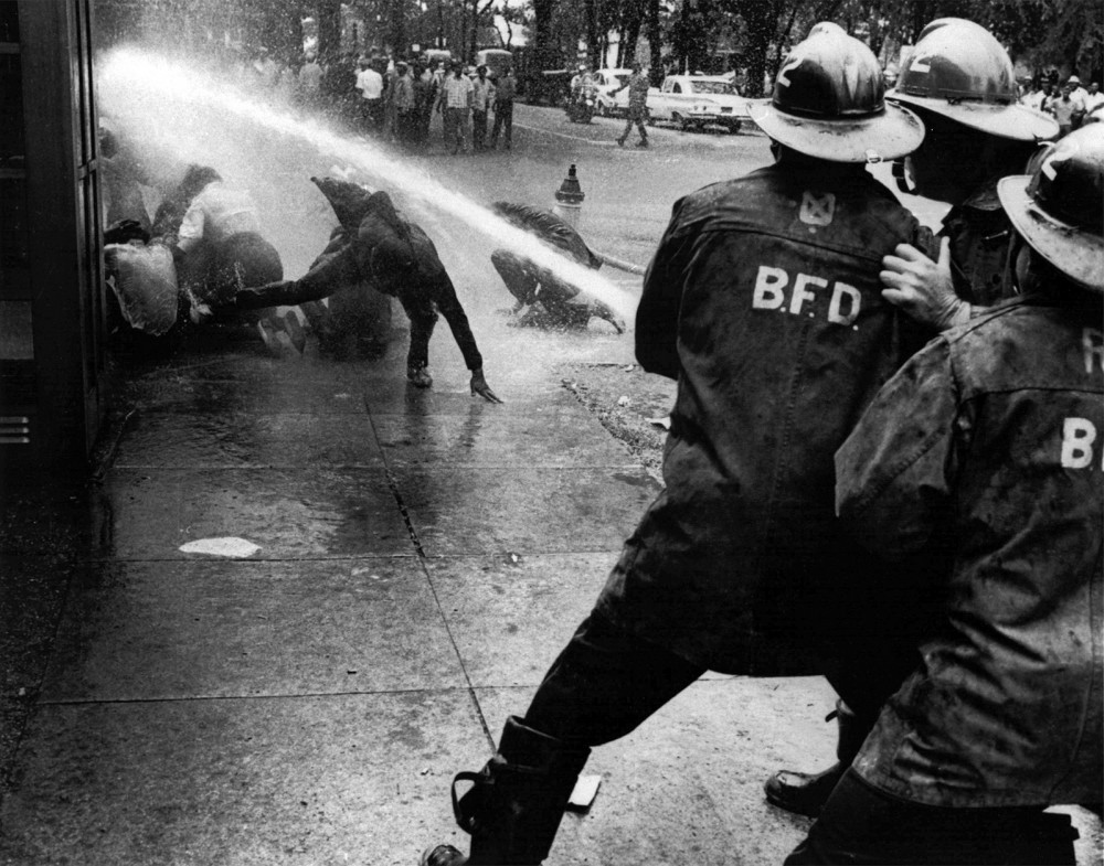 Images of police brutality against peaceful Civil Rights demonstrators shocked many Americans and helped increase support for the movement. Photograph. http://www.legacy.com/UserContent/ns/Photos/Fire%20hoses%20used%20against%20civil%20rights%20protesters%20in%20Birmingham%201963.jpg.