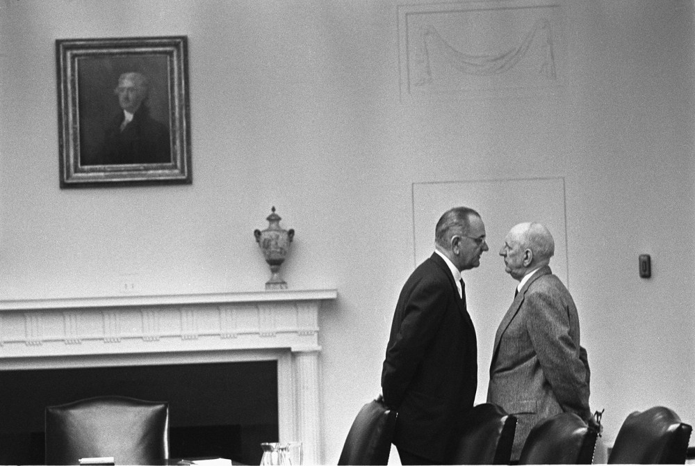 Lyndon B. Johnson was not afraid to use whatever means necessary to get his legislation passed. Johnson was notoriously crude, rude, and irreverent, making the massive amount of legislation he got passed even more incredible. Yoichi R. Okamoto, Photograph of Lyndon B. Johnson pressuring Senator Richard Russell, December 17, 1963. Wikimedia, http://en.wikipedia.org/wiki/File:Lyndon_Johnson_and_Richard_Russell.jpg.