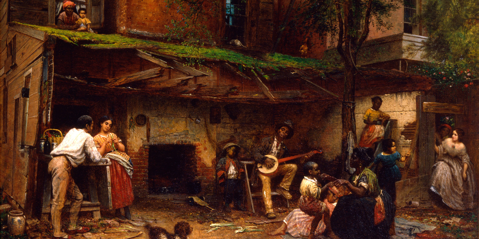 """Eastman Johnson, """"Negro Life at the South,"""" 1859"""