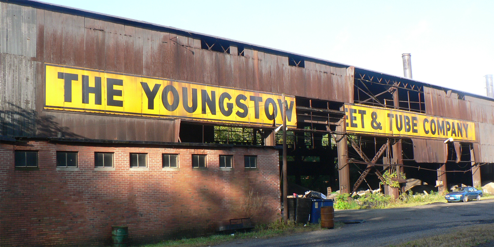 Photograph of an abandoned Youngstown factory.
