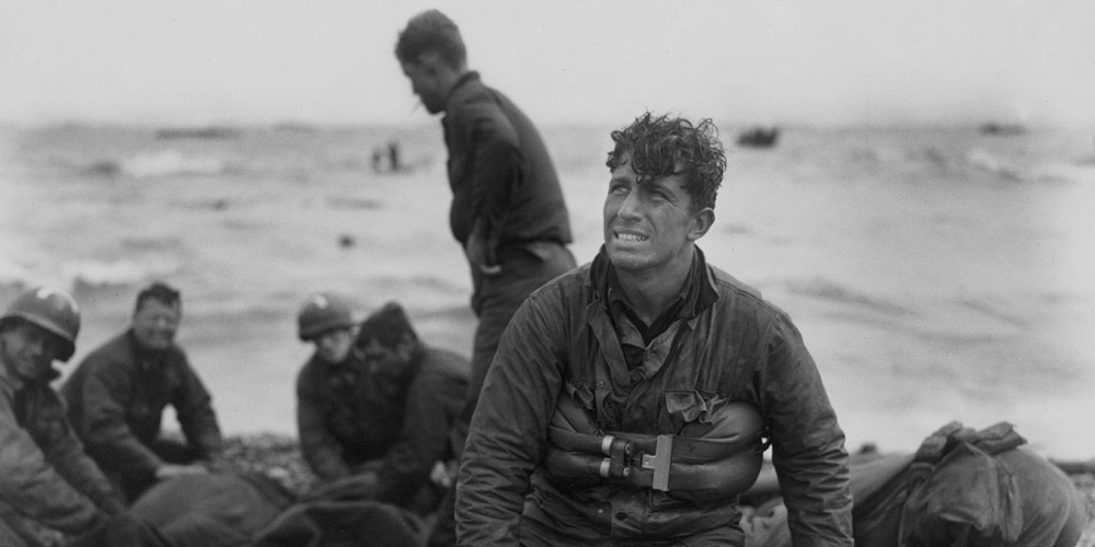 "Walter Rosenblum, ""D Day Rescue, Omaha Beach,"" via Library of Congress."