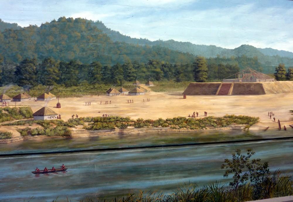Prehistoric Settlement in Warren County, Mississippi, Vicksburg Riverfront Murals.