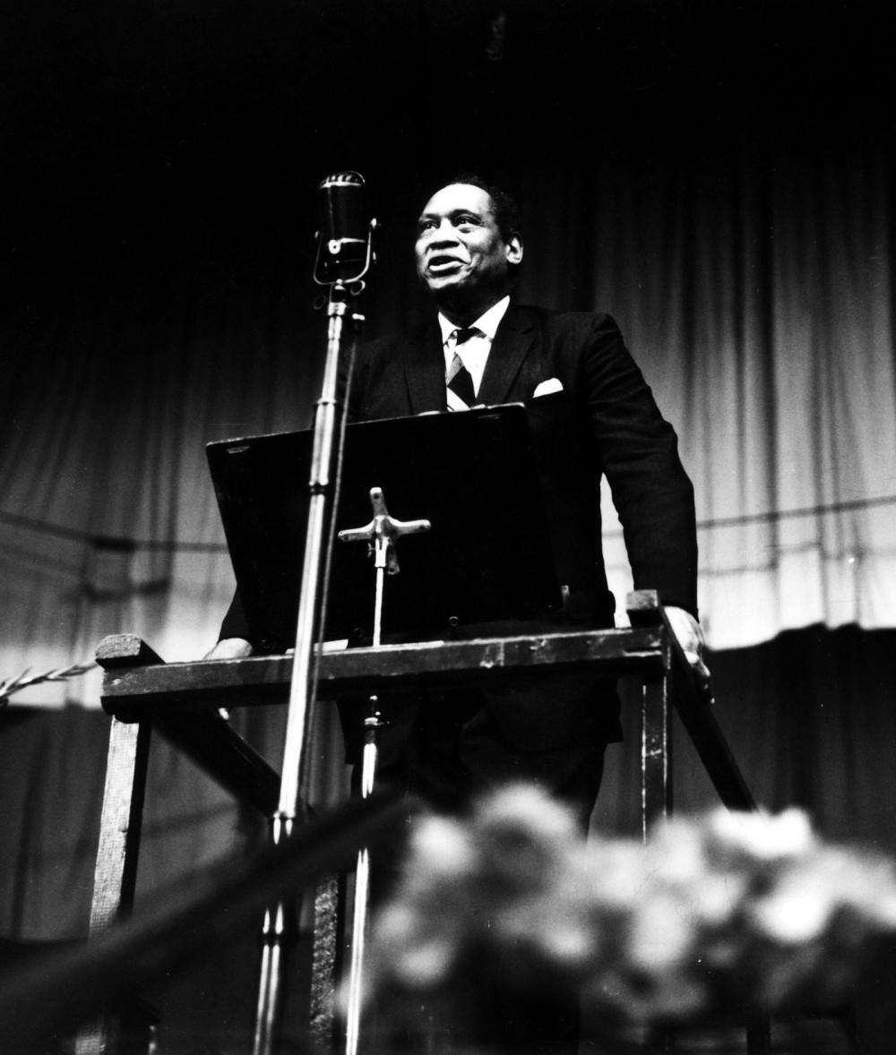Many accused of Communist sentiments vehemently denied such allegations, including the one of the most well-known Americans at the time, African American actor and signer Paul Robeson. Unwilling to sign an affidavit confirming he was Communist, his U.S. passport was revoked. During the Cold War, he was condemned by the American press and neither his music nor films could be purchased in the U.S. Photograph. http://i.ytimg.com/vi/zDb9nM_iiXw/maxresdefault.jpg.